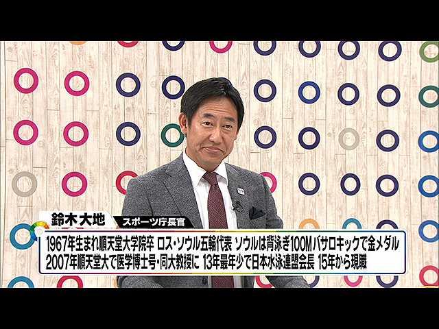 """2018年1月20日放送「スポーツ庁長官が語る""""スポーツ…"""