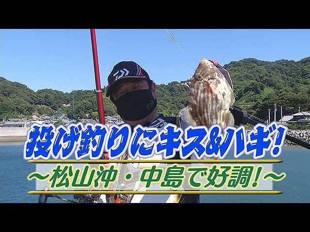 投げ釣りキス&ハギ!松山沖・中島で好調!