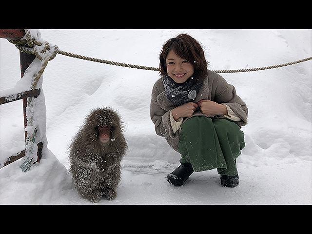 中村静香 冬の北信州リゾート旅