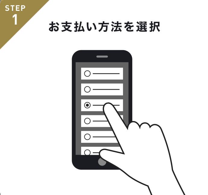 STEP1 お支払い方法を選択